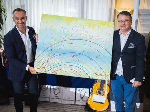 L'opera d'arte, messa in palio ed estrazione dal Maestro d'Arte Michele Nicolè tra tutti i partners del Golden Green Trophy 2017 è stata assegnata a Engel & Völkers.