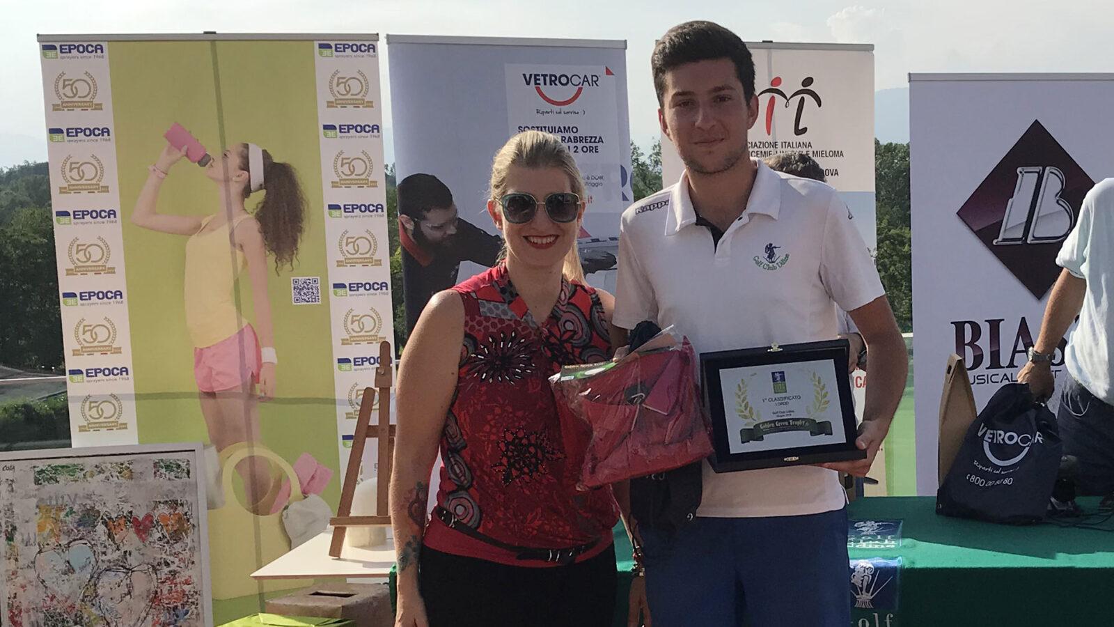 Carlo Sgaravatti, vincitore del Lordo al Golf Club Udine