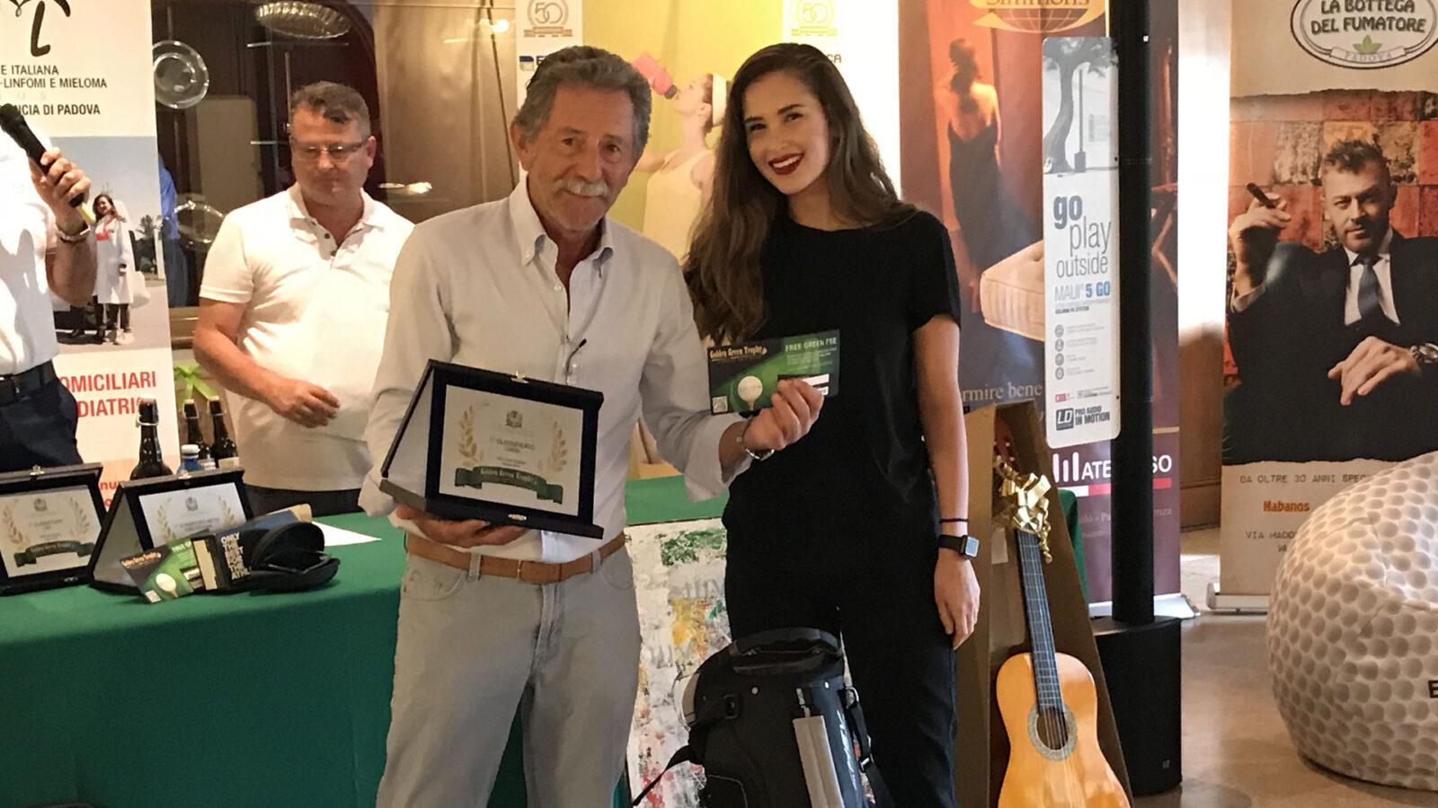 Matteo Barbini, vincitore del Lordo al Golf Club Padova
