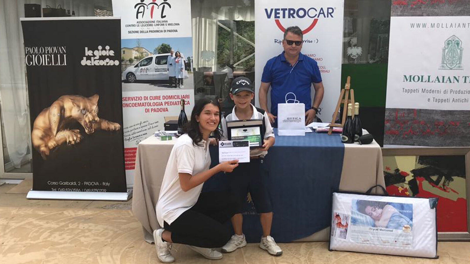 Filippo Marchesin, vincitore del Lordo al Golf Club Cà Amata