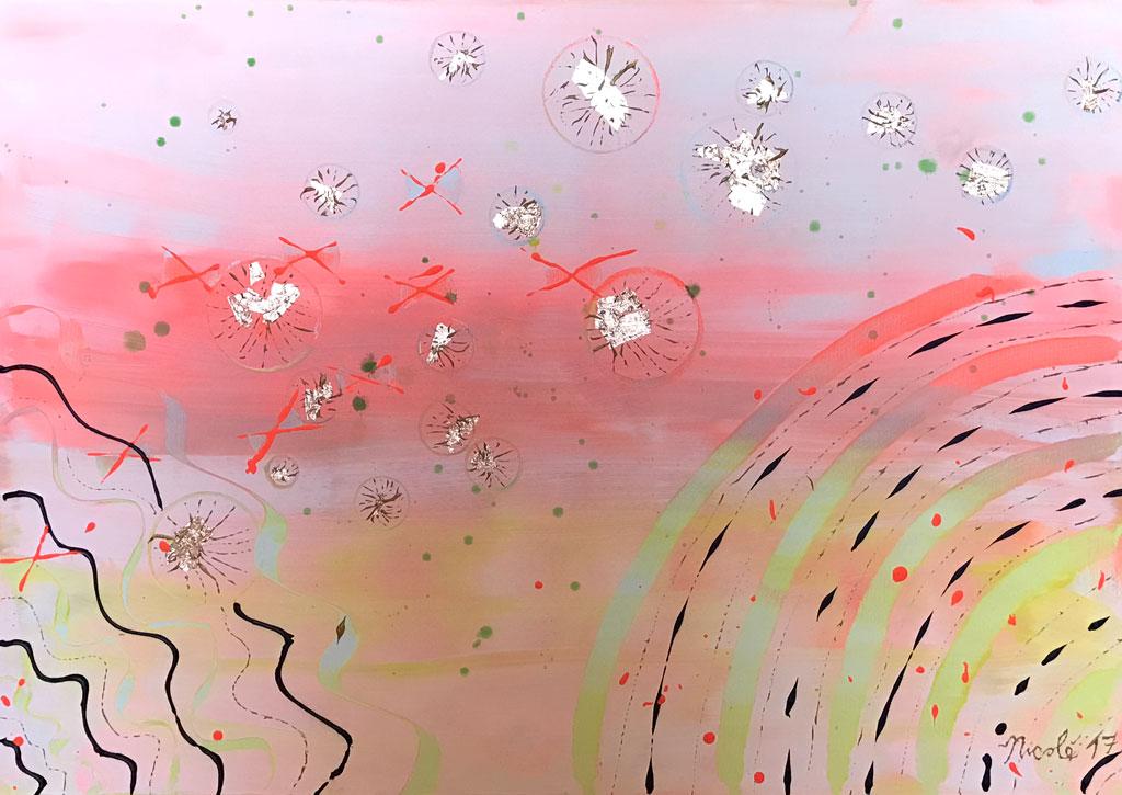 Cromosomi Rosa, opera d'arte di Michele Nicolè